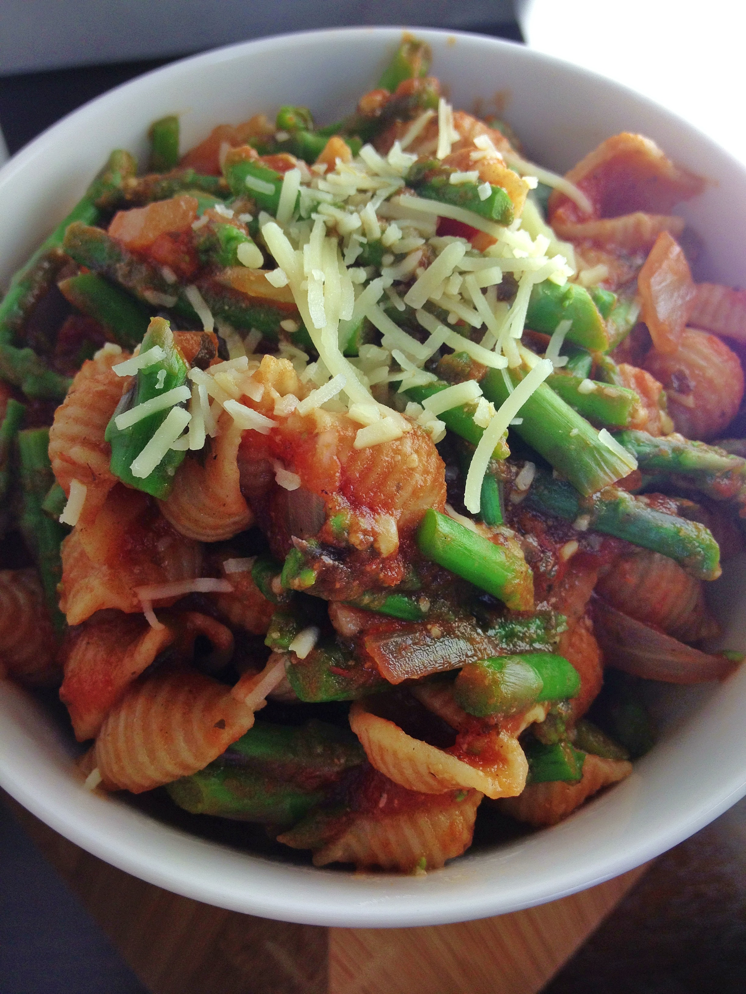 Baby Pasta Shells With Asparagus And Marinara Sauce Recipes ...