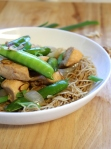 15-Minute Almond Chicken with Noodles