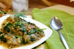 Green Curry Mung Beans with Spinach