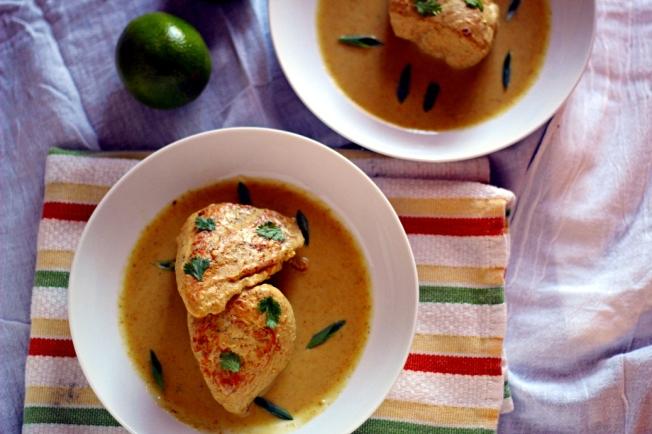 Freezer-to-Crockpot Thai Curry-Braised Chicken