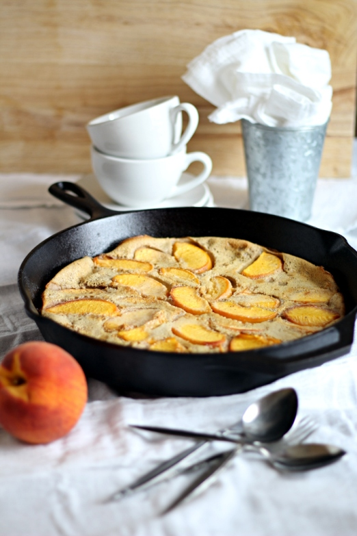 Chai Peach Clafoutis from www.IfLooksCouldKale.com