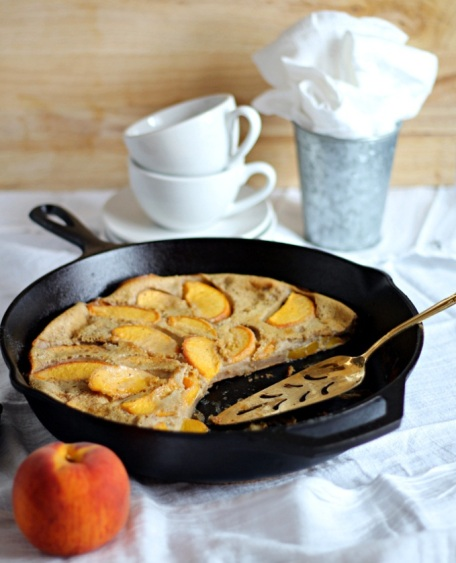 Chai Peach Clafoutis from If Looks Could Kale