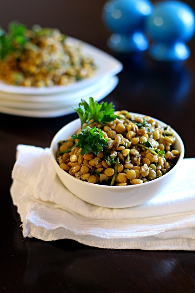Lebanese Warm Lentils from If Looks Could Kale