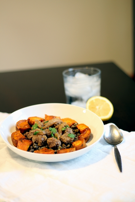 Syrian Meatballs & Sweet Potatoes