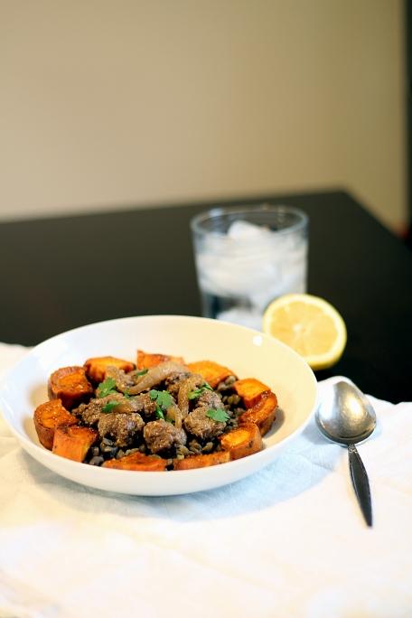 Syrian Meatballs & Sweet Potatoes